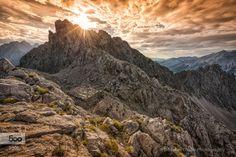 Geierwallys Home by thalerst  Hafelekar Kalkalpen Karwendel Karwendelgebirge Nikon D800 clouds cottage light mountain sky sun suns