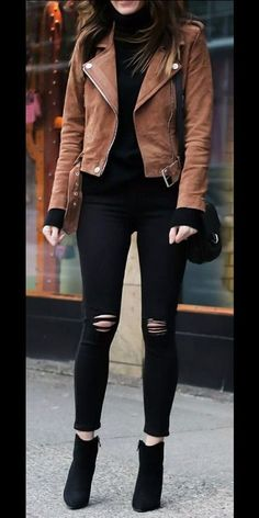 Casual Winter Outfits, Winter Fashion Outfits, Look Fashion, Stylish Outfits, Rock Chic Outfits, Fashion Quiz, Fashion Goth, Trendy Dresses, High Fashion