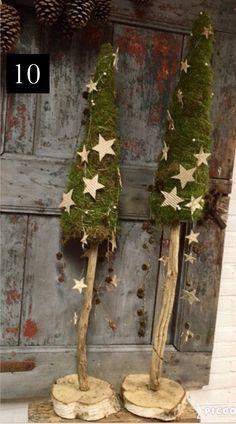 Christmas Door, Christmas Is Coming, Rustic Christmas, Christmas Holidays, Diy And Crafts, Christmas Crafts, Xmas Decorations, Garden Projects, Garden Art