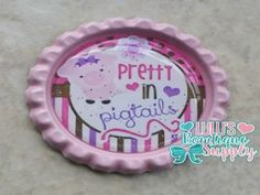 Pretty In Pigtails Finished Bottlecap