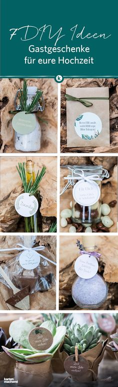 Gastgeschenke – DIY für eure Hochzeit Find 7 ideas for wedding favors here! From bath salts, sweet or homemade herbal oil: here you can see ideas that are simply imitation and still very personal. Diy Wedding On A Budget, Diy Wedding Gifts, Wedding Party Favors, Diy Gifts, Wedding Ideas, Casual Wedding Gowns, Dress Wedding, Catering Display, Decoration Table