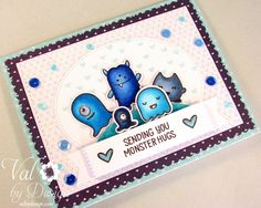 Light It Up Blue For Autism Awareness Blog Hop - Lawn Fawn, Mama Elephant, Pretty Pink Posh {ValByDesign, 2015}