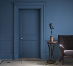 A nod to the Swedish antique blue. Looks really great with Lead I woodwork.