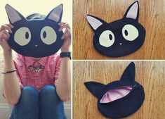 Free Sewing Pattern: Studio Ghibli Kiki's Delivery Service Jiji Cat Purse Bag by Sew in Love for Sew Geeky