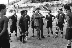 FC Barcelona's players and Joan Gamper (previously known as Hans Kamper), born 22 November 1877, Swiss founder of FC Barcelona (29 November 1899) and club president of FC Barcelona (5 times, 1908-1925)