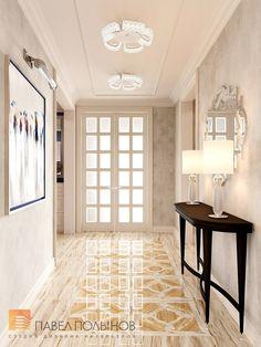 Фото холл из проекта «Дизайн 4-комнатной квартиры 162 кв.м. в ЖК «Платинум», стиль неоклассика»