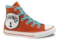 I have a nappy to match these- Thing One and Thing Two Converse Dr. Seuss Shoes- how cool is that! Cool Converse, Kids Converse, Converse All Star, Converse Shoes, Converse Chuck Taylor, Custom Converse, Converse High, Red Chucks, Hand Painted Shoes