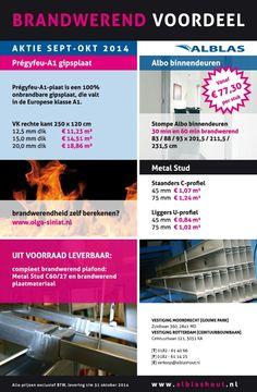 Brandwerend voordeel aktie september oktober 2014