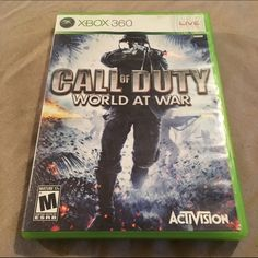 Xbox 360 game Call of Duty world at war. Game Other