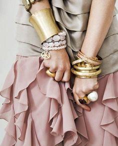 soft pink skirt romantic