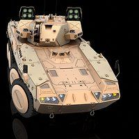 The wheeled IFV concept. Tools: 3ds max, Adobe Photoshop, Vray, Keyshot