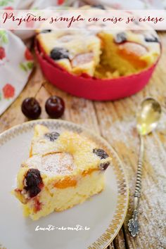 Simple recipe available with translation. Lamb Burgers, Cherry Cake, Sweet Cakes, French Toast, Sweet Treats, Deserts, Muffin, Easy Meals, Cooking Recipes