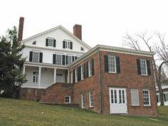 Rear view of the Noah Webster Home in Greenfield Village in Dearborn, MI