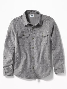 Patterned Built-In Flex Flannel Shirt for Boys