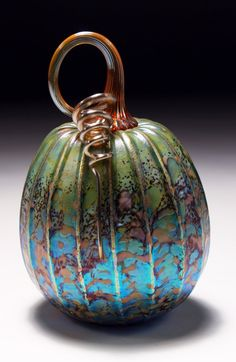 Jack Pine Studio Hand Blown Glass green vanilla by jackpinestudios, $100.00