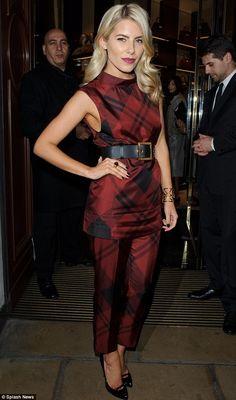 Mollie King in Gucci Tartan. Divine!
