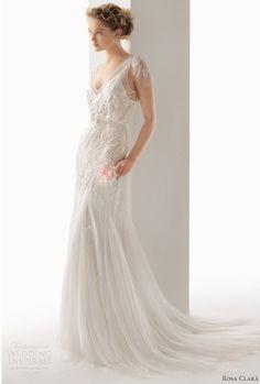 Super pretty, wispy wedding dress. Love.