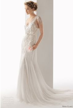 Super pretty, wispy wedding dress. Love.