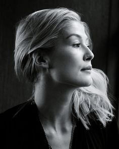 Rosamund Pike In Black And White