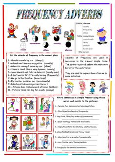 FREQUENCY ADVERBS -2 pages