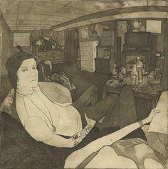Jen Mann - etching