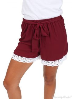 We Are The Champions Burgundy and White Shorts