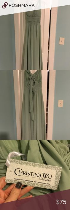 Christina Wu Bridesmaid Dress New with tags, size 6 unaltered. Color is Meadow Dresses Wedding
