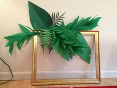How to Make A Crepe Paper Leaf Garland