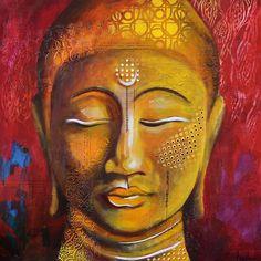 Nancy Létourneau (Pixels) Bhavana, 2015 Technique mixte sur bois x Pixel, Angel Art, Sanskrit, Buddha, Religion, Creations, Artsy, Collage, Hero