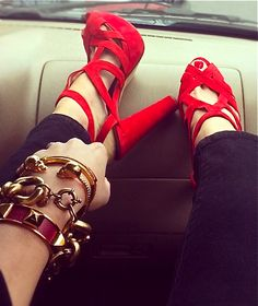 Zara red heels! www.louboutinboots.at.nr   Fashion high heels, fashion girls shoes and men shoes ,just here with $129 best price