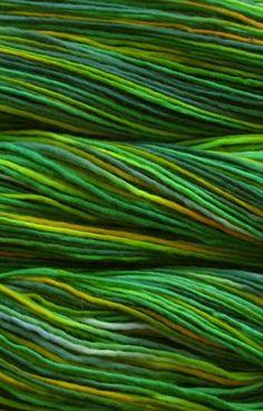 Green shades of yarn