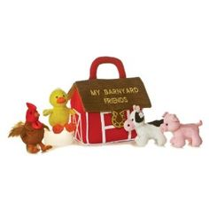 Barn Yard Friends Carrier With Sound - this was one of Molly's favorite toys her whole first year and beyond.