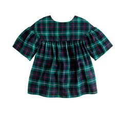 Girls' tartan swing top - I'd love to make something like this for the holidays using a cotton tartan fabric and the Oliver + S Class Picnic Blouse pattern