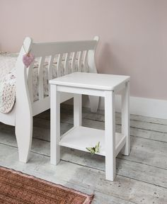 Bedside Table in White Bedside Cabinet: Amazon.co.uk: Kitchen & Home £45 for 2