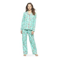 Nite Nite Munki Munki® Women's PJ Set Green/Llama Size L so they're roomy, please. NEED these.