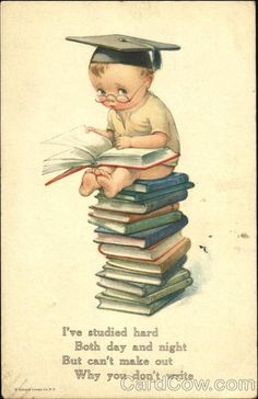Young Boy Studying illustrated by Charles Twelvetrees.