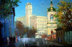 Москва в живописи Михаила Бровкина. Колымажный переулок