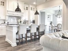 White On White Kitchen white & pale grey contemporary farmhouse style kitchen | house