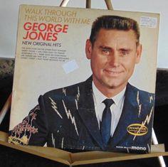 George Jones Lp Walk Through This World With Me Very Good Plus…