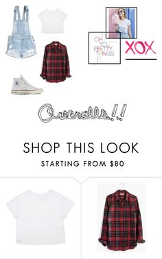 """""""Overalls"""" by xxpinkfashionistax ❤ liked on Polyvore featuring H&M, Madewell, Converse and GALA"""