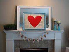 valentine mantle ideas