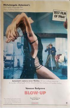 Original Movie Posters, Movie Poster Art, Poster S, Vanessa Redgrave, Blow Up Movie, David Hemmings, Carlo Ponti, Cool Hand Luke, Michelangelo Antonioni