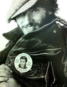 Bruce Springsteen (wearing an Elvis Presley button)
