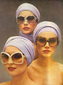 Yves Saint Laurent Sunglasses Ad- Vogue May 1976, vintage 1970s fashion
