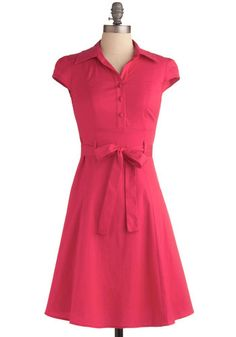 1940s day dress:Soda Fountain Dress in Pink (many more colors) $49.99 AT vintagedancer.com