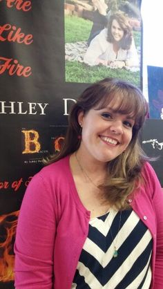 This is author, Ashley Dotson wearing Laurelynn earrings! Here is here website!  http://www.ashleydotson.com/