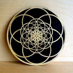 Fibonacci Seed of Life Wall Art - Sacred Geometry Laser Cut Art - LaserTrees Item Number