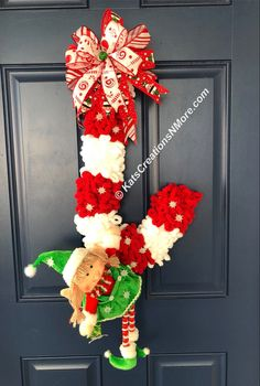 Christmas Swags, Christmas Makes, Christmas Elf, Holiday Wreaths, Christmas Crafts, Christmas Decorations, Christmas Trimmings, Holiday Fun, Christmas Ideas