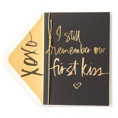 First Kiss Valentine Card