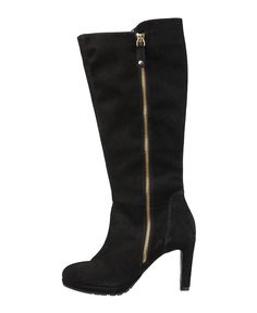 Women's shoes - 100% genuine leather uppers, suede - boots with side zip - internal: synthetic material - rubber sole -  - Boot women sabine Black